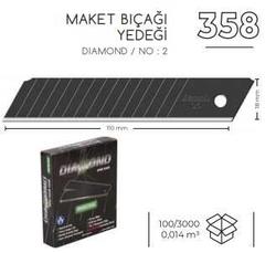 3A - 3A Diamond Maket Bıçağı Yedek 10'lu