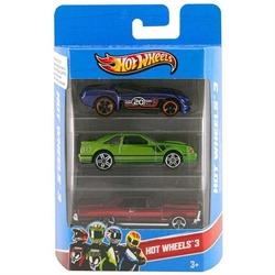 Mattel - Mattel Hot Wheels Üçlü Araba Seti 1:64 Ölçekli 3 Adet Araba K5904