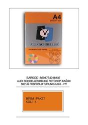 Alex Schoeller - Alex Schoeller Fosforlu Renk Fotokopi Kağıtları A4 500'lü 771
