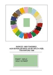 Alex Schoeller - Alex Schoeller Kolej Fon Kartonu 1309/190 Yeşil 50 x 70 100'lü 120 Gr