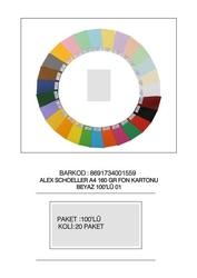 Alex Schoeller - Alex Schoeller Kolej Fon Kartonu A4 No:01 Beyaz 100'lü