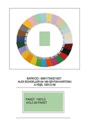 Alex Schoeller - Alex Schoeller Kolej Fon Kartonu A4 No:09 Yeşil 100'lü