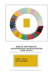 Alex Schoeller - Alex Schoeller Kolej Fon Kartonu A4 No:51 Sarı 100'lü