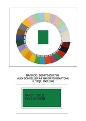 Alex Schoeller - Alex Schoeller Kolej Fon Kartonu A4 No:60 Yeşil 100'lü