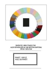 Alex Schoeller - Alex Schoeller Kolej Fon Kartonu A4 No:63 Siyah 100'lü