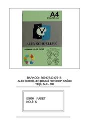 Alex Schoeller - Alex Schoeller Renkli Fotokopi Kağıtları A4 500'lü 590 Yeşil