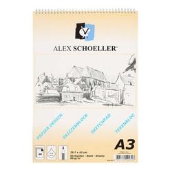 Alex Schoeller - Alex Schoeller Spiralli Eskiz Bloknot A3 90gr