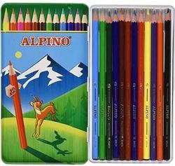 Alpino - Alpino Kuru Boya Metal Kutu 12'li