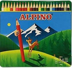 Alpino - Alpino Kuru Boya Uzun Metal Kutu 24'lü