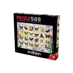 Anatolian Puzzle - Anatolian Puzzle Kelebekler Butterfly Stamps 500'lü
