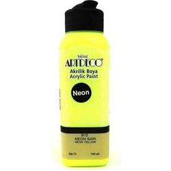 Artdeco - Artdeco Akrilik Boya 140 ml Neon Sarı