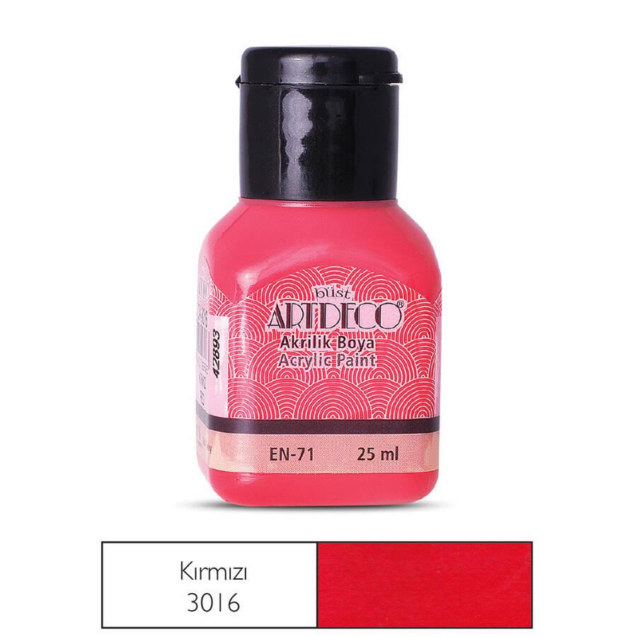 Artdeco Akrilik Boya 25ml Kırmızı