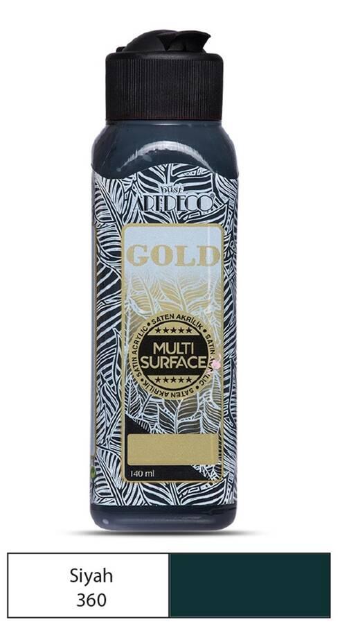 Artdeco Akrilik Boya Gold 140 ml Siyah
