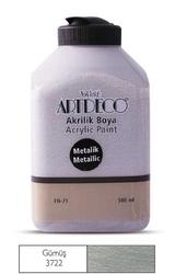 Artdeco - Artdeco Metalik Akrilik Boya 500ml Gümüş