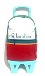 Benetton - Benetton Çekçekli Sırt Çantası 70033