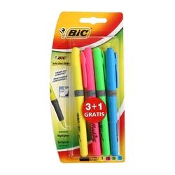 Bic - Bic Brite Liner Grip Fosforlu Kalem 4 Renk