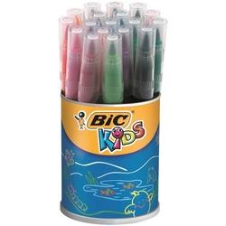 BiC - Bic Fırça Uçlu Keçeli Boya Kalemi Kutu 18'li