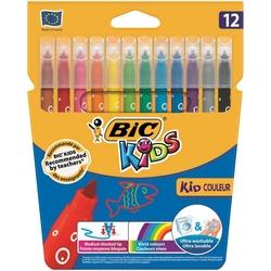 Bic - Bic Kid Couleur Yıkanabilir Keçeli Kalem 12'li