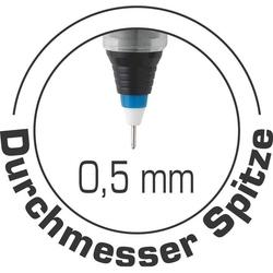 Bic - Bic 537R Glide Pro İğne Uçlu Roller Kalem 0.5 mm Mavi