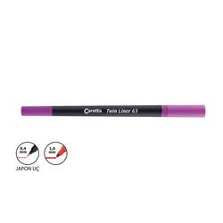 Caretta - Caretta Twin Liner Kalem 0.4 - 1 mm Lila