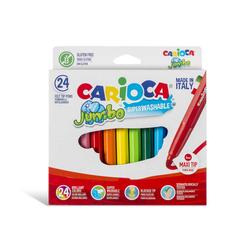 Carioca - Carioca Keçeli Boya Kalemi Jumbo Yıkanabilir 24'lü