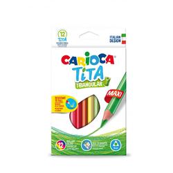 Carioca - Carioca Tita Maxi Kuru Boya Jumbo Üçgen 12'Li 42791