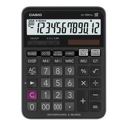 Casio - Casio DJ120D Hesap Makinesi 12 Hane Pilli ve Güneş Enerjili