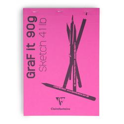 Clairefontaine Çizim B. Grafit Blanc A4 90gr 80 Yaprak - Thumbnail