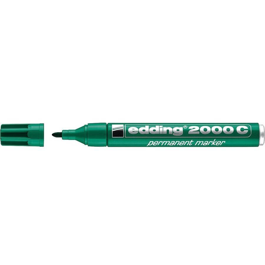 Edding 2000 C Permanent Markör Yuvarlak Uç 1.5-3 mm Yeşil
