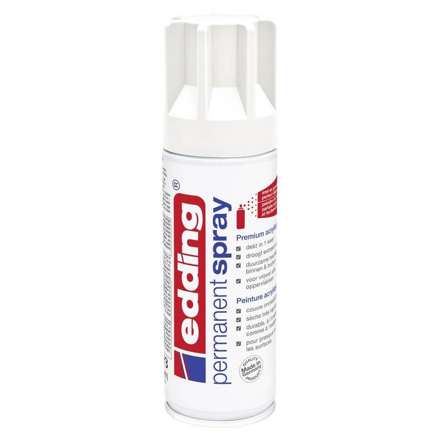 Edding 5200 Permanent Sprey Premium Akrilik Boya Trafik Beyaz Mat Ral 9016