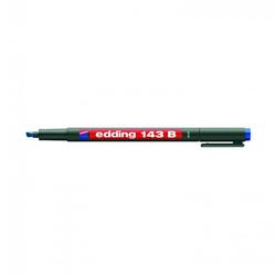 Edding - Edding 143 B Permanent Kalem 1-3 mm Kesik Uç Mavi