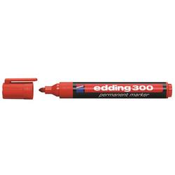 Edding - Edding E-300 Permanent Markör Yuvarlak Uçlu Kırmızı
