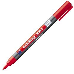 Edding - Edding 361 Beyaz Yazı Tahtası Kalemi İnce Uç 1 mm Kırmızı