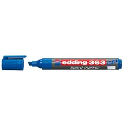 Edding - Edding 363 Beyaz Tahtası Kalemi Kesik Uç Mavi