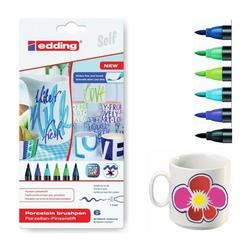 Edding - Edding 4200 Porselen Kalemi Soğuk Renkler 6'lı Set