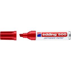 Edding - Edding E-500 Permanent Markör Kesik Uçlu Kırmızı