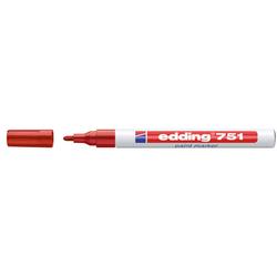Edding - Edding 751 Tam Örtücü Boya Markörü Kırmızı