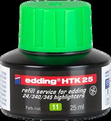Edding - Edding HTK 25 Fosforlu Kalem Mürekkebi 25 ml Yeşil