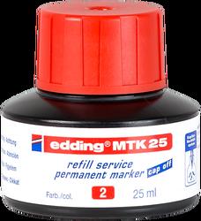 Edding - Edding MTK 25 Permanent Markör Yedek Mürekkep 25 ml Kırmızı