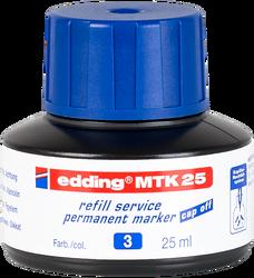Edding - Edding MTK 25 Permanent Markör Yedek Mürekkep 25 ml Mavi