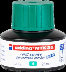 Edding - Edding MTK 25 Permanent Markör Yedek Mürekkep 25 ml Yeşil