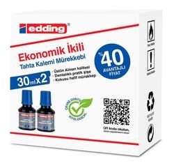 Edding - Edding Tahta Kalemi Mürekkebi BT02 2'li Mavi