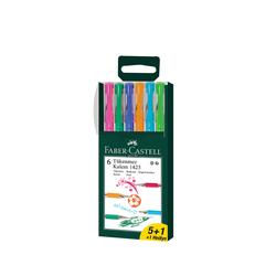 Faber-Castell - Faber Castell 1425 İğne Uçlu Tükenmez Kalem 6 Renk