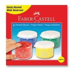 Faber-Castell - Faber Castell 4 Renk Parmak Boyası 5170160412