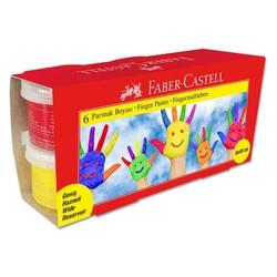 Faber-Castell - Faber Castell 6 Renk Parmak Boyası