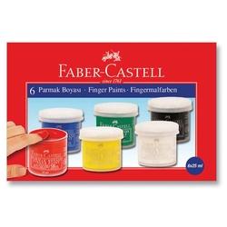 Faber-Castell - Faber Castell Parmak Boyası 25 ml x 6'lı