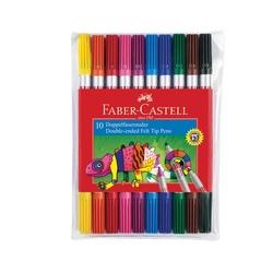 Faber Castell Çift Uçlu Keçeli Boya Kalemi 10'lu - Thumbnail