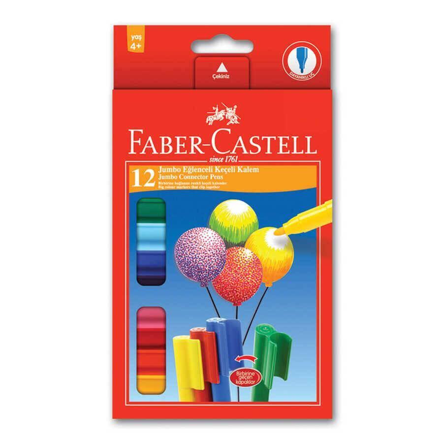 Faber Castell Eğlenceli Jumbo Keçeli Boya Kalemi 12'li
