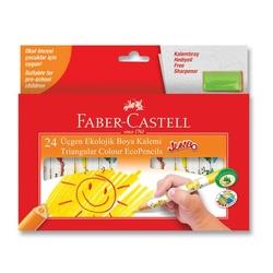 Faber-Castell - Faber Castell Jumbo Üçgen Kuru Boya Ekolojik 24'li