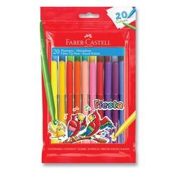 Faber-Castell - Faber Castell Fiesta Keçeli Boya Kalemi 20'li Poşet